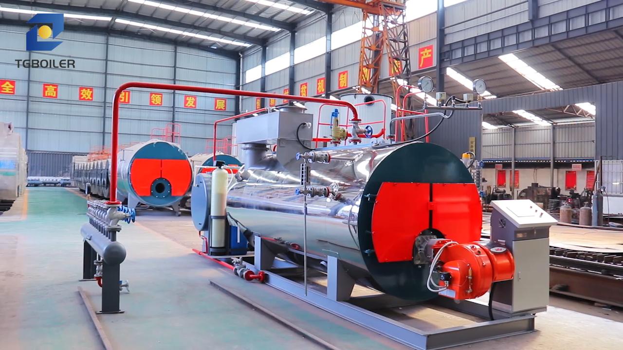 Prezzo di fabbrica Tubo di Fuoco Tipo di 0.5-20 ton/h di Gas Naturale Gasolio Caldaia A Vapore