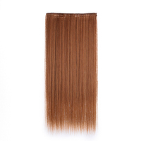sakuraprincess synthetic long silk straight 5 clips hair extensions for ladies