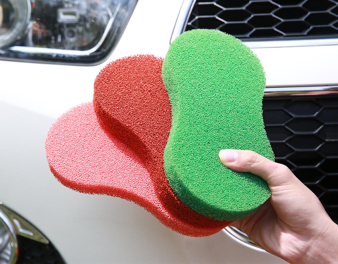 customized reusable car wash scrubbing sponge silicone car cleaning sponge scrubber good car care brush sponge