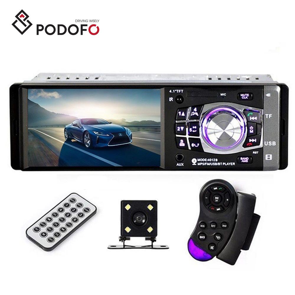 "4.1/"" 1 Din Car Stereo Radio MP5 Player Bluetooth In Dash USB AUX FM 4LED Camera"