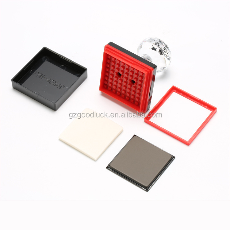 Various size acrylic crystal handle flash Stamp/Self inking stamp text rubber stamp/ Pre-inked pocket flash foam stamp