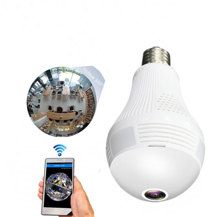 モーションデテクティングcctv 360度フルモバイルビュートーキング機能カメラ電球
