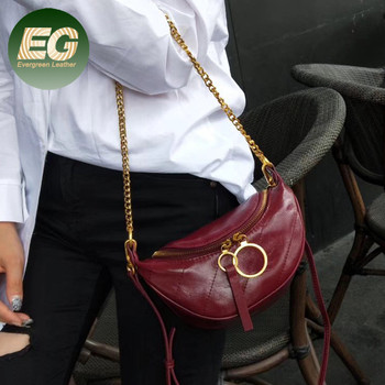Latest trend fashion sling bag mini real leather handbag shoulder waist bag for women EMG5955