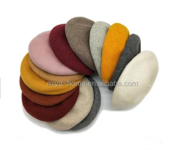 High quality  Knit Beret For Women / Spring Summer Fashion Pure Color Cotton Linen Breathable Pumpkin hat