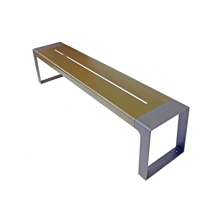 New Design Metal Bench Outdoor Urban steel seating Park Public Bench