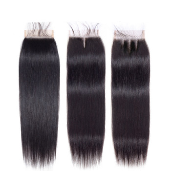 Apple Girl Human Hair Closure 4x4 Lace Closure 100% Natural Black Color Brazilian Straight Virgin Cuticle Aligned Hair