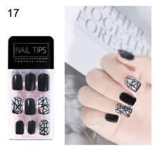 30 шт ультра-тонкие накладные ногти полное покрытие искусственные ногти французские накладные акриловые Типсы для маникюра украшения ногте...(Китай)