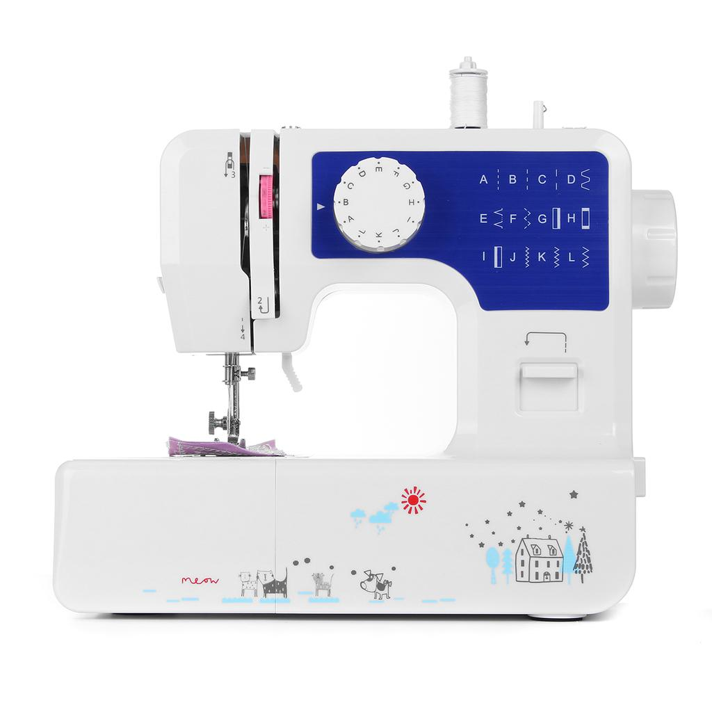 White+blue electrical sewing+machines walking foot sewing machine with foot pedal China manufacturer