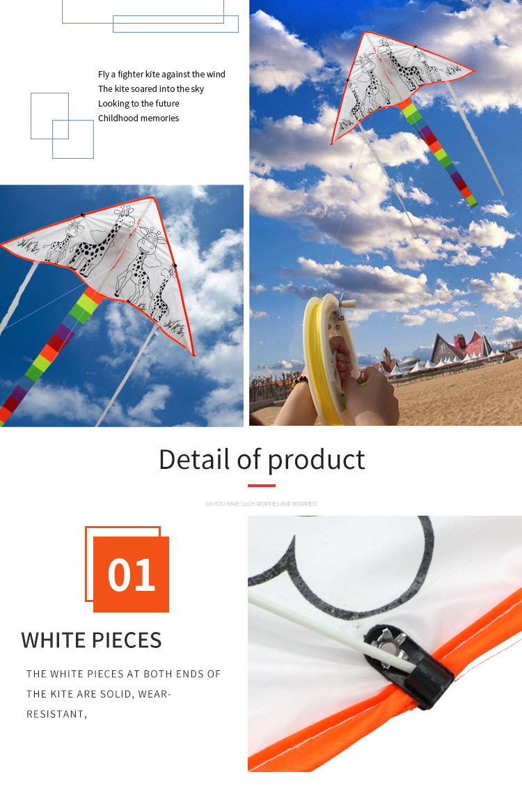 Wholesale  Kids hand drawn educational toys  chinese DIY blank kite for sale
