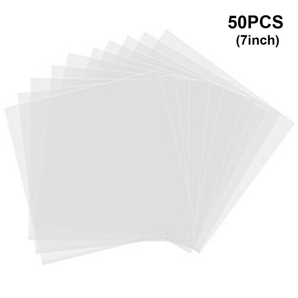 50 шт. 7/10/12-дюймовый PE полиэстер запись протектор LP запись антистатическая Защита сумка пластинка круглый защитные наклейки прозрачный(Китай)