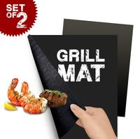 Set of 2 China manufacturer amazing ptfe nonstick BBQ Grill Mats