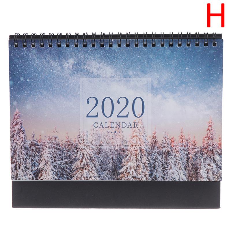 1 шт. ручной рисунок 2020 свежий мультфильм настольный бумажный календарь двойной ежедневный планировщик настольный планировщик годовой Орг...(Китай)
