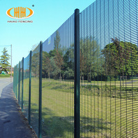 Durable welded 358 anti climb high security wire mesh fence for sale