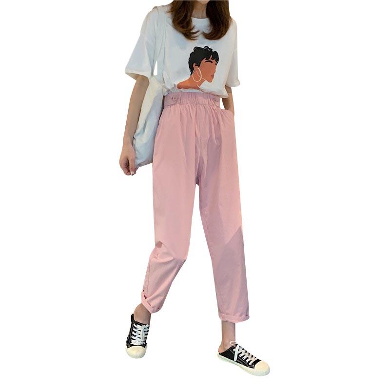 Pantalones Coreanos De Cintura Alta Para Mujer Pantalon Informal Liso Adelgazante Para Verano Buy Pantalones Casuales De Cintura Elastica Para Mujer Pantalones Casuales De Cintura Alta Para Mujer Pantalones Para Mujer Product On Alibaba Com