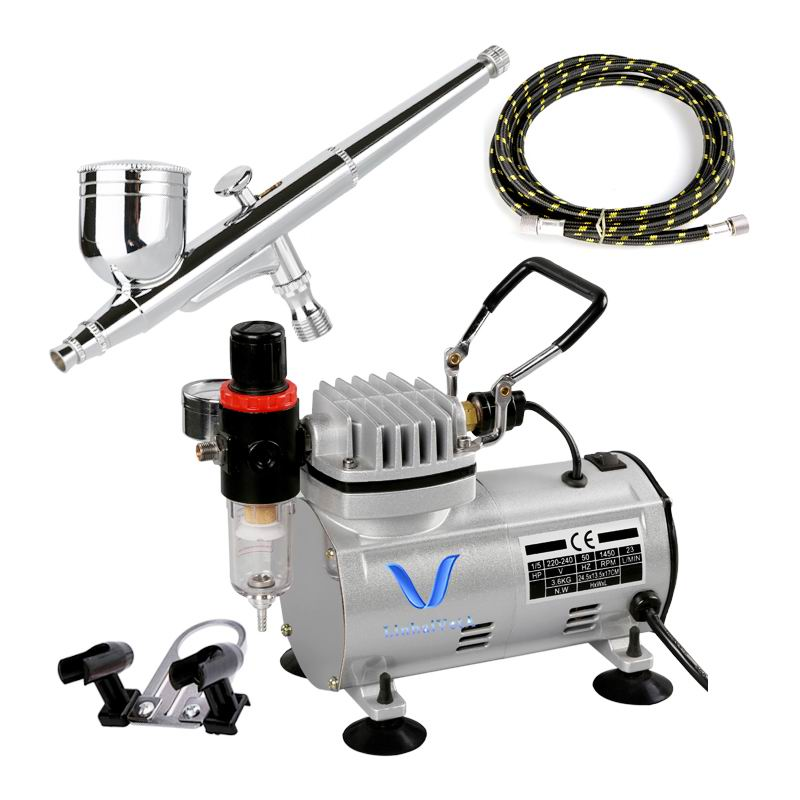 LinhaivetA art air brush machine gun airbrush compressor set nail mini cake kit
