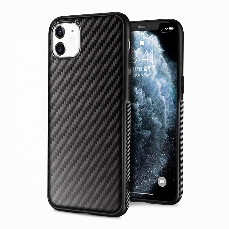 Carbon Fiber Stripe Print Flexible TPU Other Mobile Phone <strong>Accessories</strong> Case for Apple iPhone 11 Pro Max XS XR X 9 7 Plus SE 2020