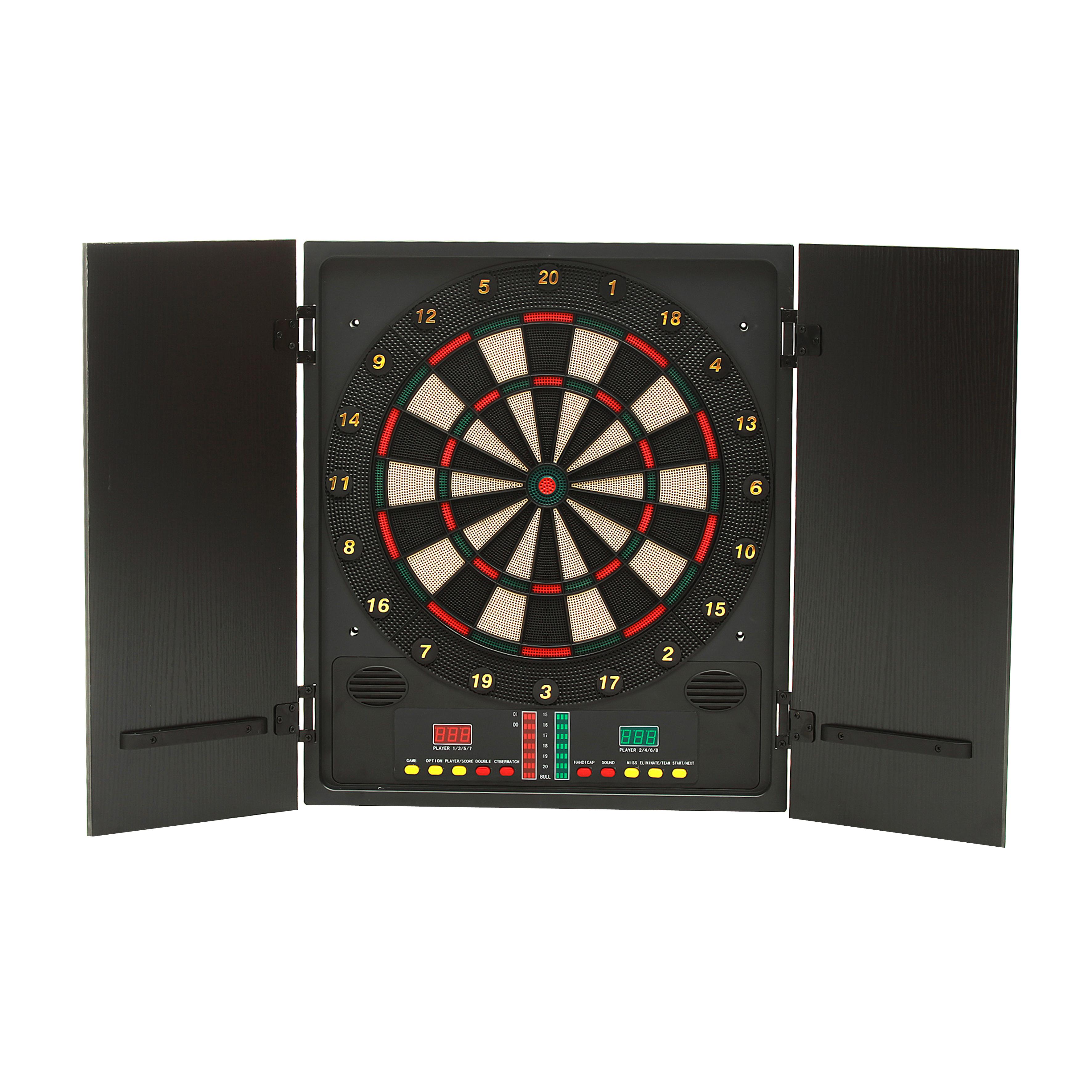 Professional อิเล็กทรอนิกส์ในร่มจอแสดงผล LED dartboard กับตู้