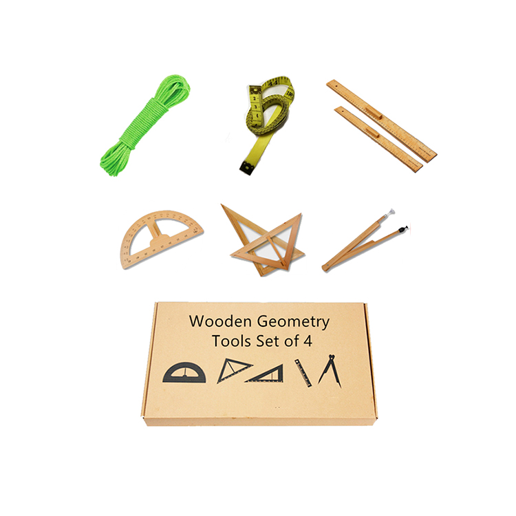 Professional Math Education Tool School Geometry Math Ruler Sets Plastic Teaching Ruler Set Wooden Mathematical Geometry Sets