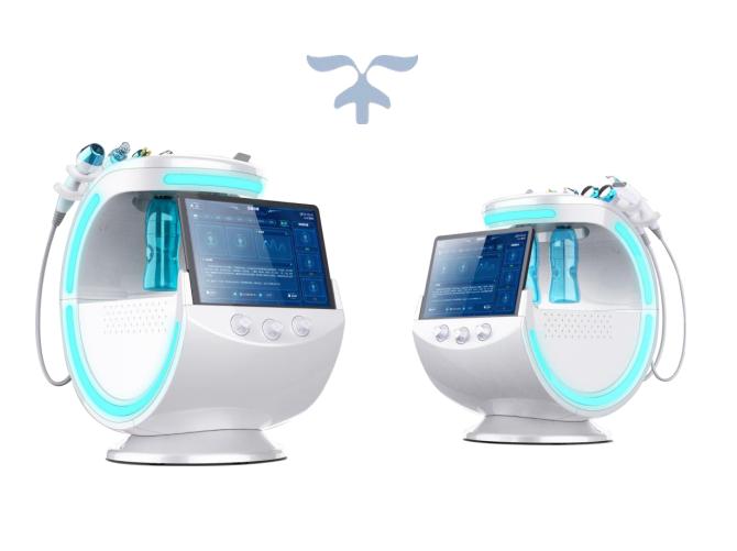 2020 New 7 in 1 Portable Intelligent Ice Blue RF Hydra Oxygen Jet Water Peeling  beauty machine