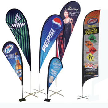 Fast Delivery Amazon best sales Customers Design Outdoor Beach Flag large stand banner for Advertisement