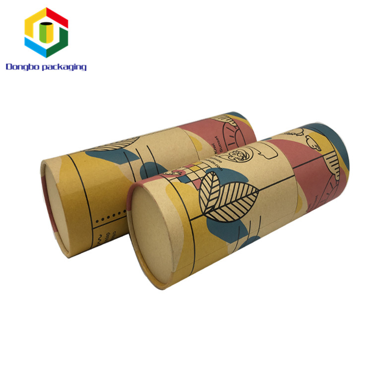 China Supplier Cylinder Customized Printing Recyclable Kraft Paper Tube Packaging