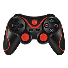 Game Controller <span class=keywords><strong>PS3</strong></span> <span class=keywords><strong>Nirkabel</strong></span> Enam Axis Double Getaran Bluetooth Pengisian Konsol Permainan Handle Gamepad