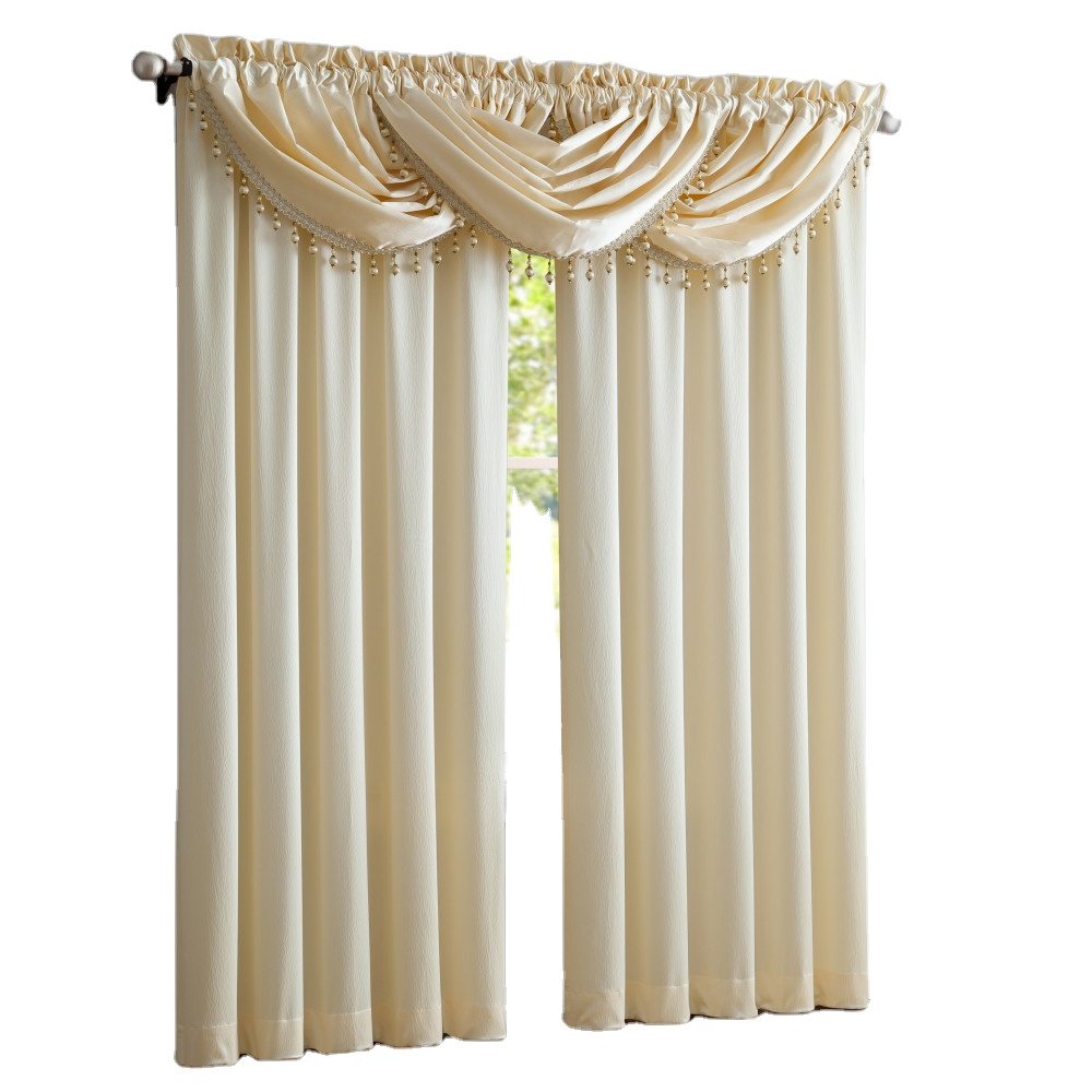 Hot Sale Solid Satin Door Window Curtain Semi-shading Drape  Curtains For Living Room Bedroom Blinds Home Decor