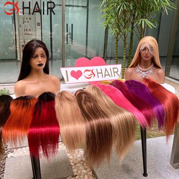 GS Pink/Red/Highlight Colored Full Lace Wig Pre-Plucked with Baby Hair Brazilian Remy Cheap Full Lace Human Hair Wigs for Women