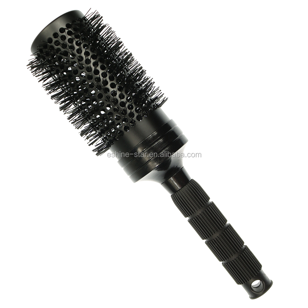Private label 2019 new hair brush longer aluminum  barrel ceramic  round hair brush