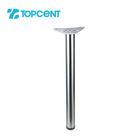 TOPCENT chrome stainless steel bar coffee dining metal folding adjustable telescopic furniture table legs
