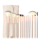 Makeup brushes white wooden handle foundation brush eye shadow tool travel original artificial fiber wholesale makeup brush set