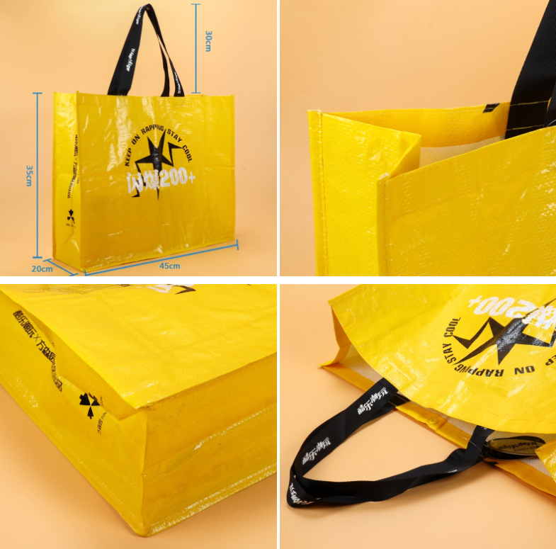 Wholesale Custom Logo Printing Reusable Waterproof Bulk Recyclable Laminated Tote PP Woven Shopping Bags
