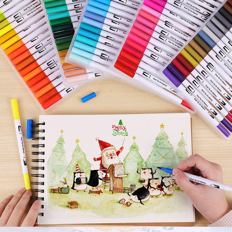 Drawing Coloring Brush Pens Set Pen Sets Custom Dual Tip Art Markers Buy Brush And Fine Tip Art Markers Drawing Coloring Brush Pens Set Pen Sets Custom Dual Tip Markers Product On Alibaba Com
