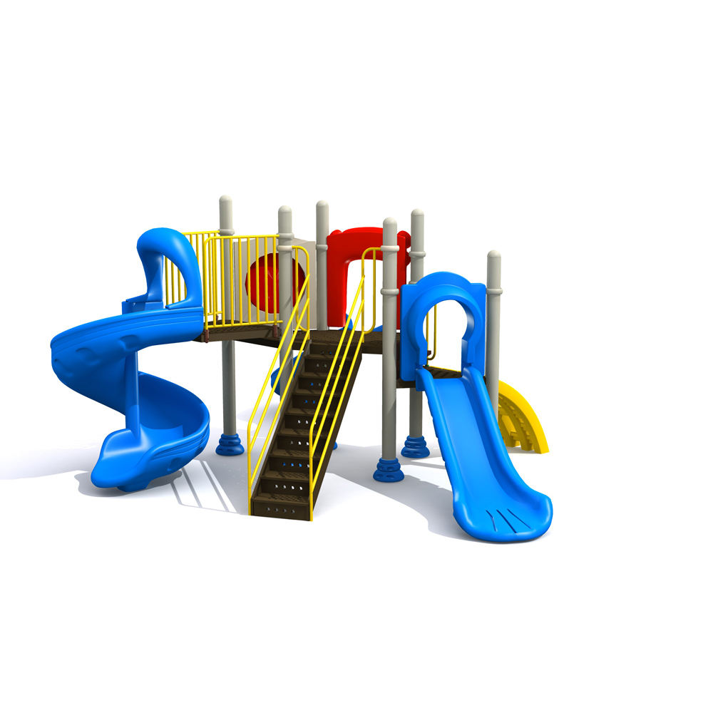 EN1176 certified indoor outdoor playground children climbing game slide combination