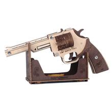 Стволовые игрушки, деревянная модель оружия, Резиновая полоса, пули, пистолет в сборе, игра-головоломка, Популярная игрушка, подарок, забавн...(Китай)