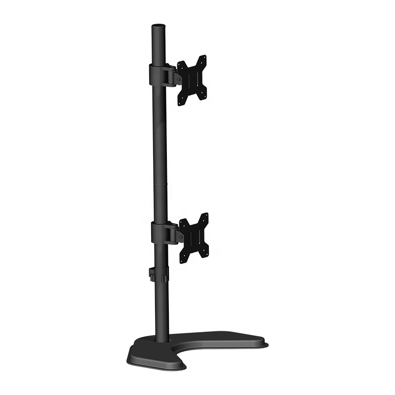 """Up Down 360 Degree Rotating LCD Dual Screen Adjustable Monitor Arm Desk Mount Stand for 13""""-27"""" with Base"""