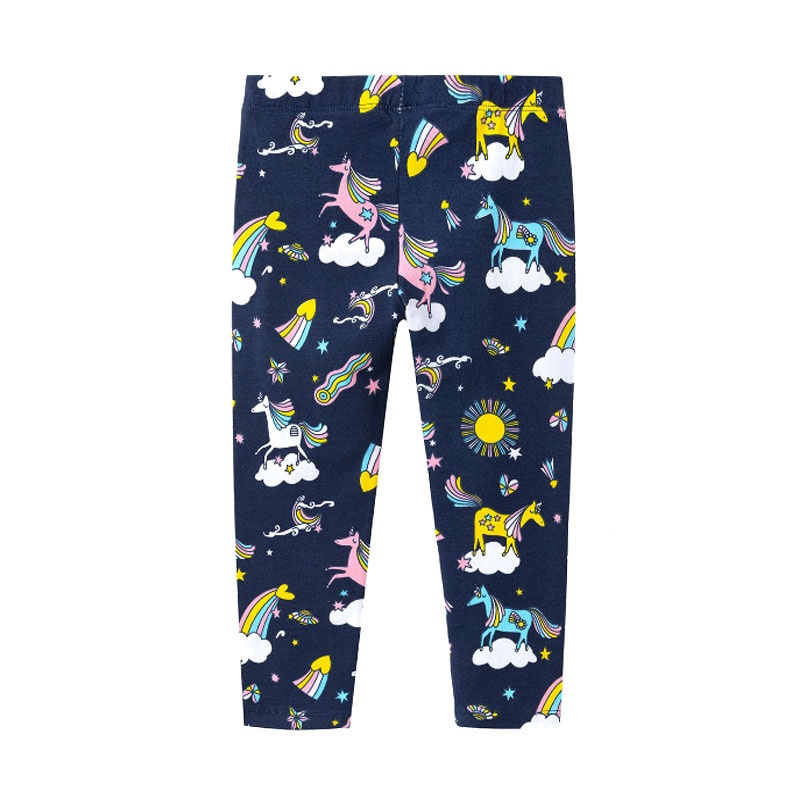 Oem Latest Novel Design Cartoon Sports Winter Personality Elastic Thick Tight Leggings Baby Girls Pants