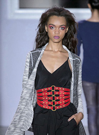 Ceinture de mode en strass élastique en cuir occidental pour femmes