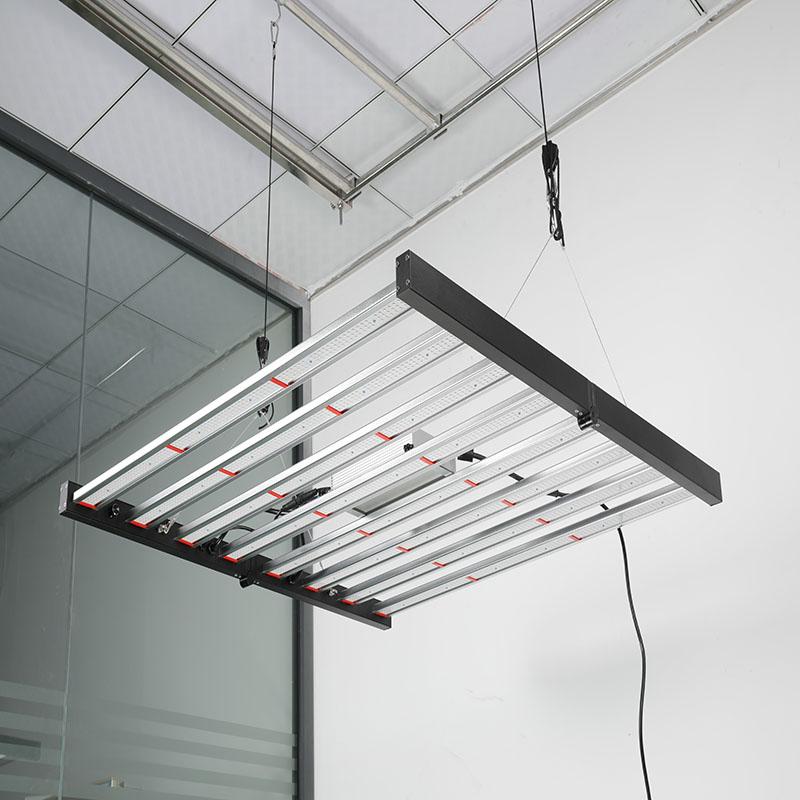 Vertical Farming LED Lighting Solution 8-bar Folding LED Grow Light with Full Spectrum from Veg to Bloom