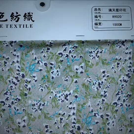 Stock 75D Polyester Clothing DuBai Chiffon Dress Digital Printed Plain Polyester Fabric