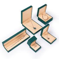 Custom dark green paper cover jewelry storage gift box for jewels