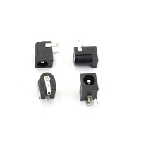 Black Plastic 2.1mm/2.5mm DC-005 2.1 x 5.5 mm DC Power Jack Socket/Electrical Plug/DC Jack/Jack
