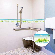 Самоклеящаяся настенная наклейка из ПВХ с креативным цветочным узором, водостойкая лента на талии для кухни и ванной комнаты, декоративная ...(Китай)