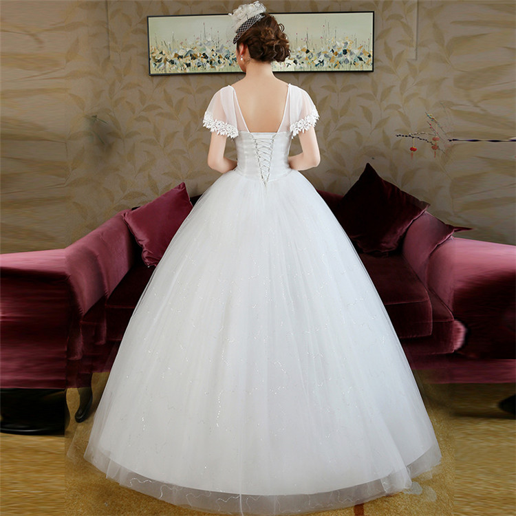 Wholesale French Lace Fashion White Bridal Gown Wedding Dress
