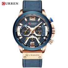 CURREN повседневные спортивные часы мужские часы лучший бренд класса люкс военные кожаные Наручные часы мужские часы модные хронограф reloj hombre(Китай)