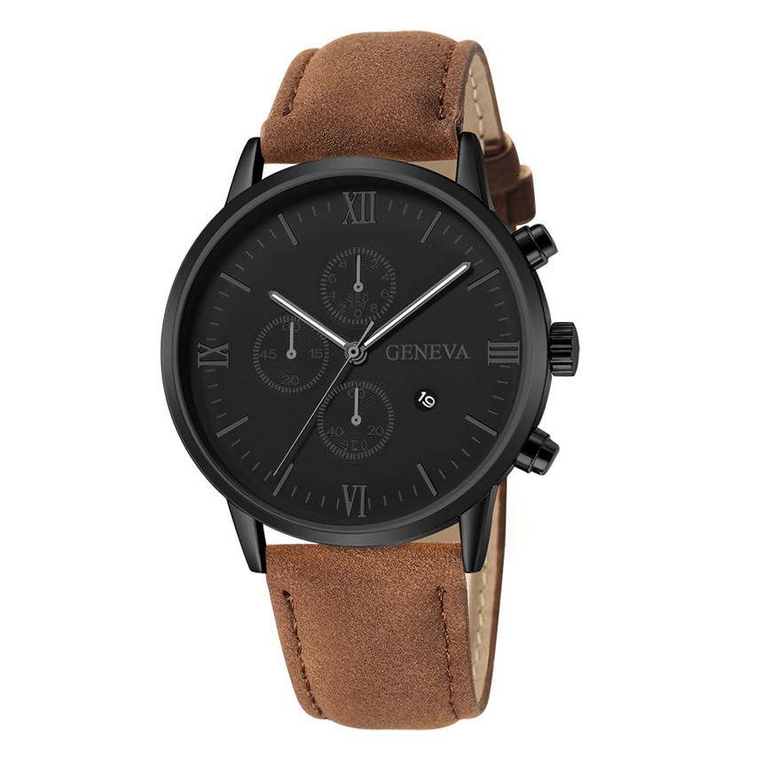Мужские часы с календарем, новинка 2020, часы Женева, экстремальные модели, повседневные кварцевые мужские часы с ремешком