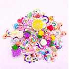 LDD99 Resin Flatback Charms, Slime Charms And Containers Mixed Candy Cake Sweets Resin Cabochons For DIY Crafts