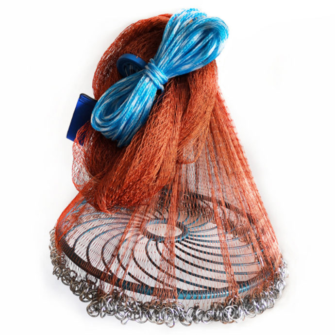 American Style Casting Net frisbee type trawling net easy throw tyre use line cast fishing net