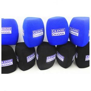 10 pcs printed windshields with custom logo mic foam covers for TV FM radio microphones