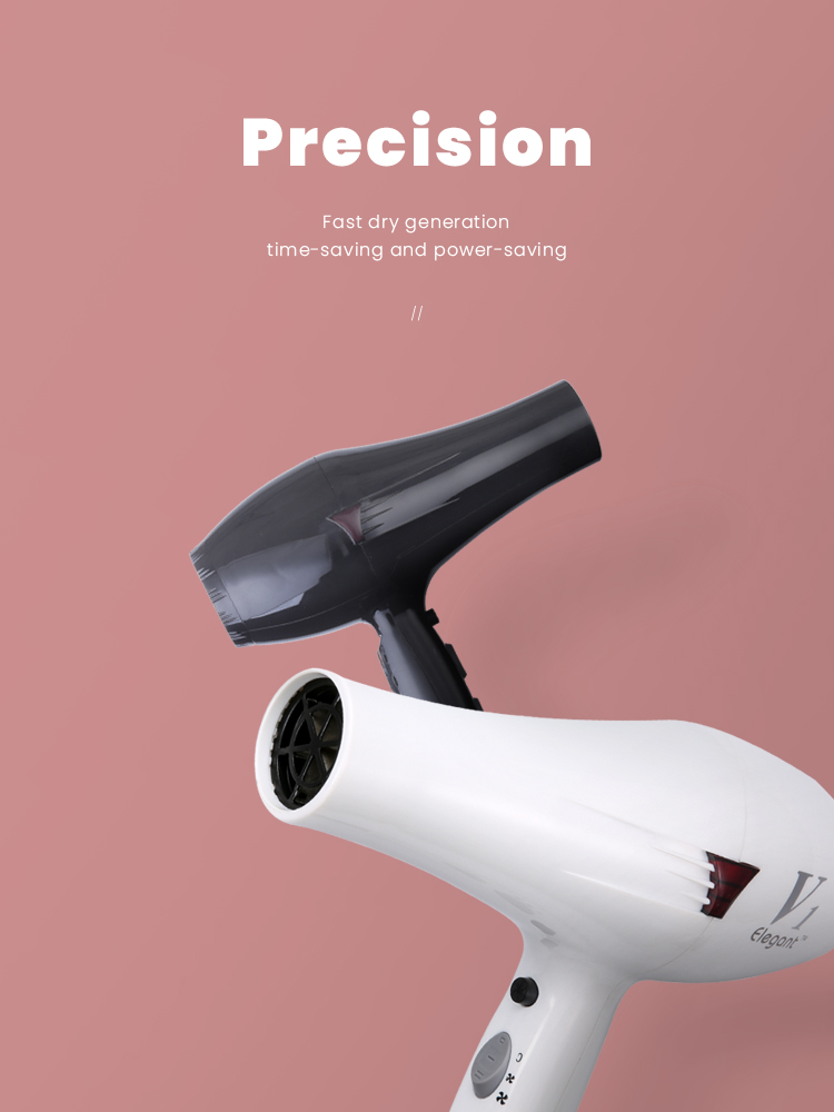 Unique internal wind duct design, more concentrated wind power, conducive to rapid blow-dry modeling electric hair dryer